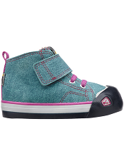 KEEN Coronado High Top Leather Lagoon/Dahlia Mauve Toddler/Kids