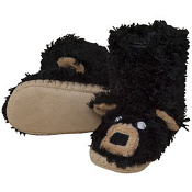 Hatley Slouch Slippers Black Bear