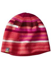 SmartWool Kids Wintersport Stripe Hat Bright Coral