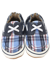 Robeez Connor Navy Plaid (Soft Soles)