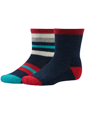 SmartWool Baby Sock Sampler Deep Navy Heather/Bright Red