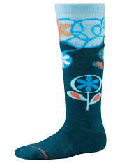 SmartWool Kids Wintersport Flower Patch Deep Sea