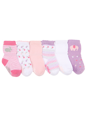 Robeez 6pk Socks Baby's Favorite Pink