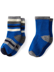 SmartWool Baby Sock Sampler Light Gray/Bright Blue