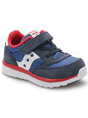 Saucony Baby Jazz Lite Navy/Red (Toddler/Kids)