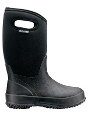 Bogs Kids' Insulated Boots Classic Black with Handles