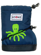 Stonz Booties Octopus Navy Blue