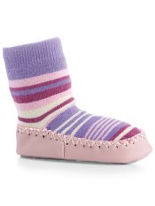 Acorn Slipper Sock Purple Multi