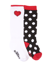 Robeez 2pk Dotted Heart Boot Socks