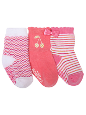 Robeez 3pk Socks Cherry Baby