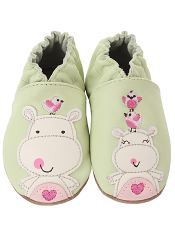 Robeez Happy Hippos Pastel Green (Soft Soles)