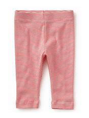 Tea Collection Striped Capri Baby Leggings Calypso Coral (Baby Girls)