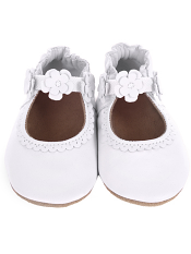 Robeez Claire Mary Jane White (Soft Soles)