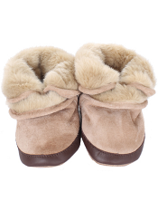 Robeez Cozy Ankle Booties Taupe