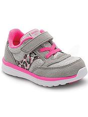 Saucony Baby Jazz Lite Silver/Leopard/Pink (Toddler/Kids)