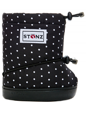 Stonz Booties Polka Dot Black & White
