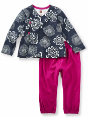 Tea Collection Tsuki Baby Outfit Heritage Blue (Baby Girls)