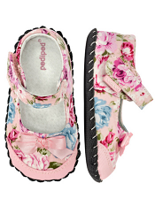 pediped Louisa Pink Floral