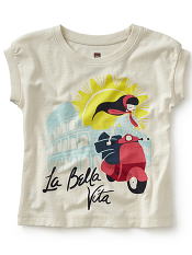 Tea Collection La Bella Vita Graphic Tee (Girls)