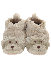 Robeez Fuzzy Bear Taupe Soft Soles