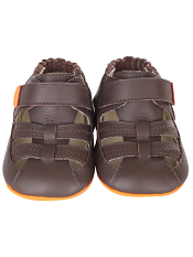 Robeez Mini Shoez Colorblock Sandal Brown