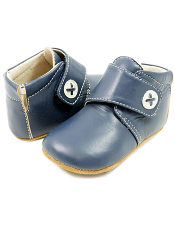 Livie & Luca Benny Bootie Navy (Baby Soft Sole)
