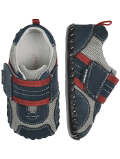 pediped Adrian Navy Grey Red