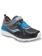 Saucony Boys Volt AC Grey/Black/Blue (Kids/Youth)