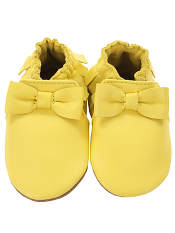Robeez Premium Leather Maggie Moccasin Yellow (Soft Soles)