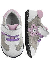 pediped Claudia White Pink