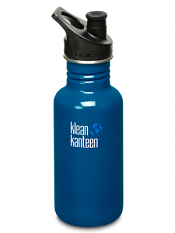 Klean Kanteen 18oz Sport Cap Blue Planet