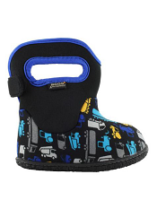 Baby Bogs Waterproof Boots Classic Trucks Black