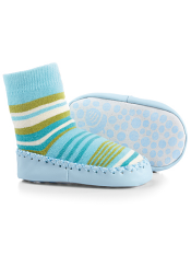 Acorn Slipper Sock Blue Multi