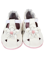 Robeez Pretty Pansy White (Soft Soles)