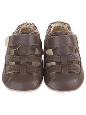 Robeez Mini Shoez Colorblock Sandal Brown