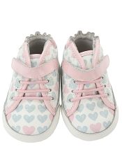 Robeez Mini Shoez Cali High Top Pastel Pink