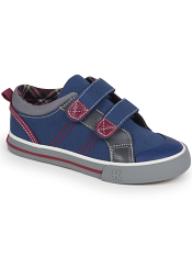 Kai by See Kai Run Hess II Navy/Burgundy