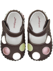 pediped Giselle Choc Brown/Polka Dots