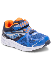 Saucony Baby Ride Blue/Orange (Toddler/Kids) (Wide/Extra Wide)