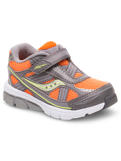 Saucony Baby Ride Orange/Grey (Toddler/Kids) (Wide)