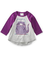 Tea Collection Tanuki Teapot Graphic Tee (Girls)