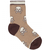 Country Kids Skull Sock Chocolate
