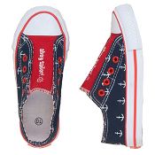 "Hatley ""Ahoy Sailor!"" Nautical Anchors Canvas Shoes"
