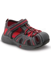 Merrell Hydro Sandal Grey/Red (Toddler) (Wide)