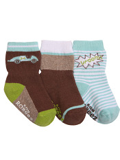 Robeez 3pk Socks Mini Racer