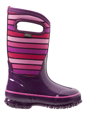 Bogs Kids' Insulated Boots Classic Stripes Purple Multi