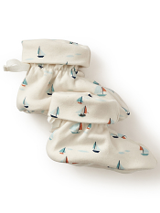 Tea Collection Little Marinaio Booties (Baby Boys)