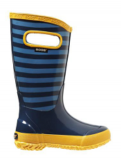 Bogs Kids' Rain Boots Stripes Navy