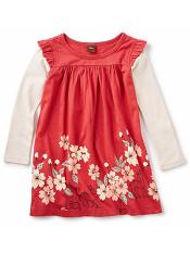 Tea Collection Nara Double Decker Dress Cardinal (Girls)
