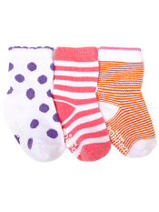 Robeez 3pk Socks Spotted Stripe